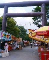 国道36号沿いにある豊平神社のお祭りです