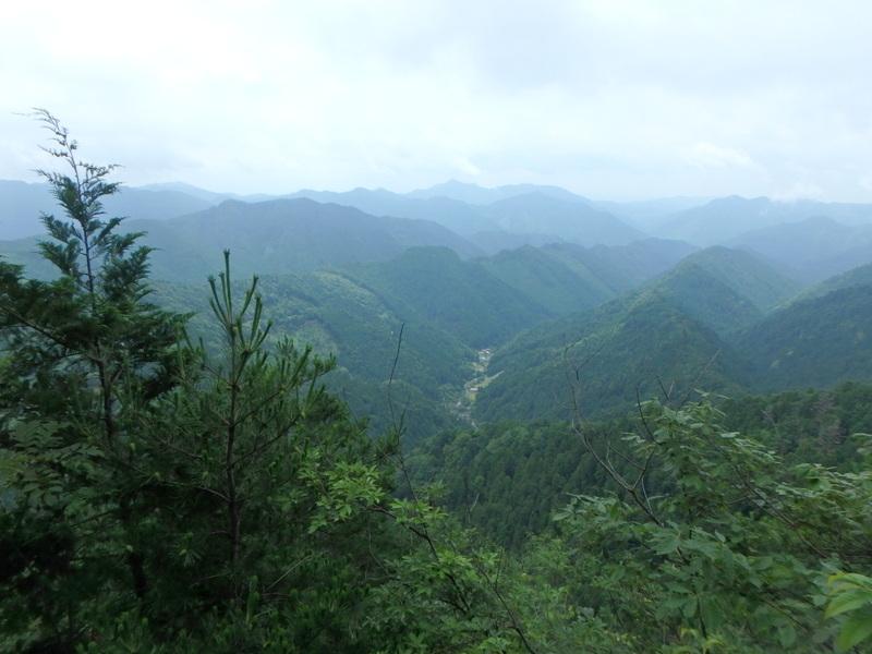 三峰頂上からの景色