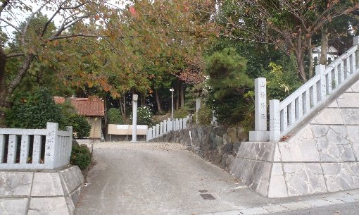 県道側入り口