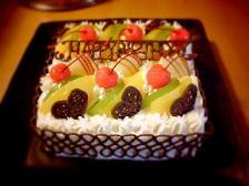 08誕生日に作ったケーキv(`∀´v)