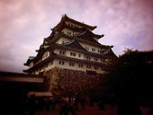 曇りで暗い名古屋城。