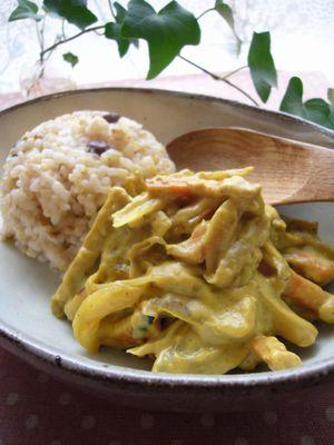 P1040626根菜のクリーミーカレーストロガノフ