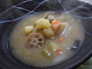 P1040705野菜いっぱい白みそ仕立ての雑煮