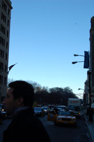5番街57丁目から北方向セントラルパーク