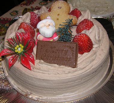 ザイヤのクリスマスチョコレートケーキ
