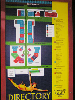 現在のアウトレットのお店の地図