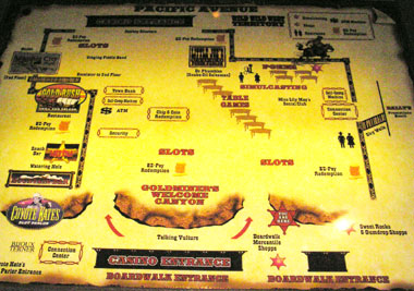 BallysHotelウェスタンカジノ内地図