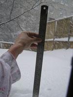 積雪測ります