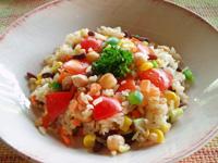 玄米サラダ
