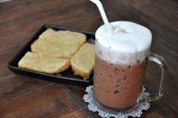 Belgium cocoa & toast w/ condensed milk