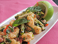 Spicy Fish Salad with Green Apple