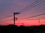 iPhoneで撮った夕焼け