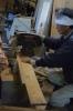 桜床板加工