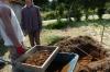苗の覆土作り