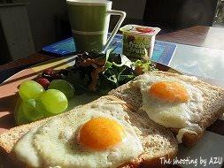 ロッジの朝食