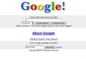 1997年のGoogle