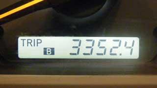 3352km トリップメーター
