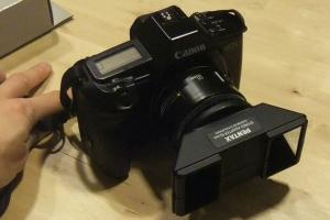 PENTAX ステレオアダプター x EOS 50mm