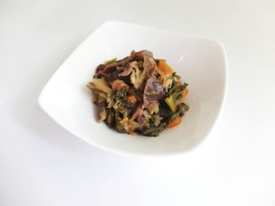 「鶏の肝と葉野菜の佃煮」の作り方 | BMDと暮らし