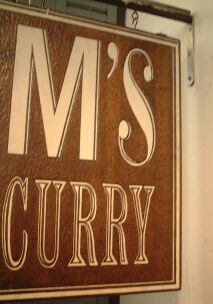 078 M's Curry 看板
