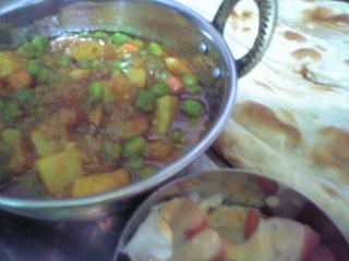 344 タージマハール 野菜カレーセット