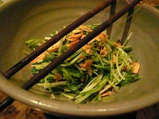 521 デロリ 水菜のペペロンチーノ