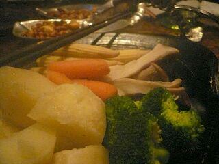 521 デロリ 温野菜チーズフォンデュ