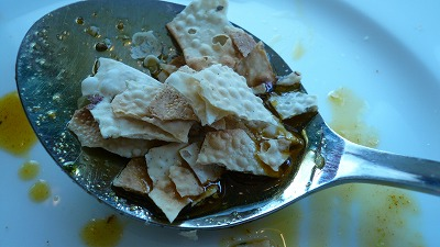 319 サラ にんにくのスパイス炒めinパパド