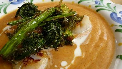 319 サラ 春野菜と帆立のカリフラワーカリー