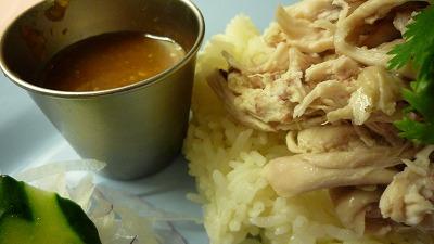 954 バンコク屋台食堂料理 カオマンガイ