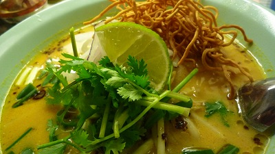 954 バンコク屋台食堂料理 カオソイ