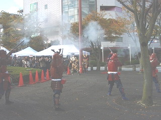 鉄砲隊演技
