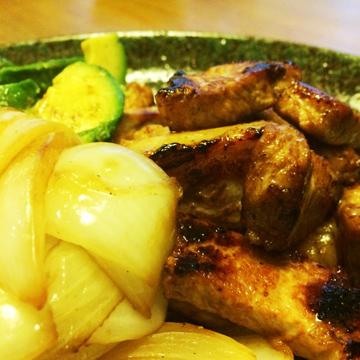 玉ねぎと豚肉の炒め物イメージ