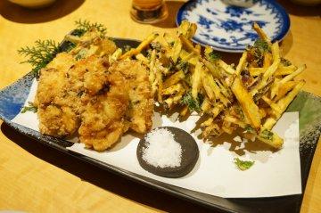 魚のすり身と野菜のかき揚げ