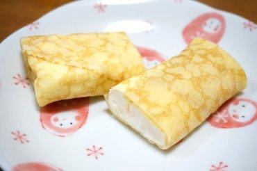 信州産チーズの手巻きクレープ