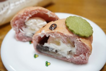 苺の大福パン