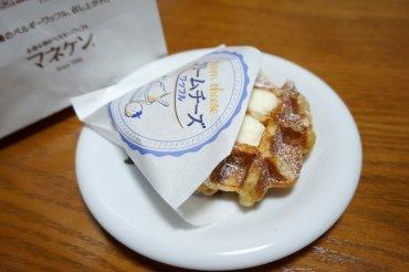 クリームチーズワッフル