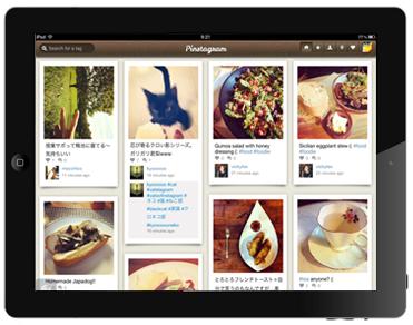 """【iPad】Pinterest風のインターフェースでInstagramをiPadとPCブラウザーで見れる、シリコンバレー発のアプリ""""Pinstagram""""。"""
