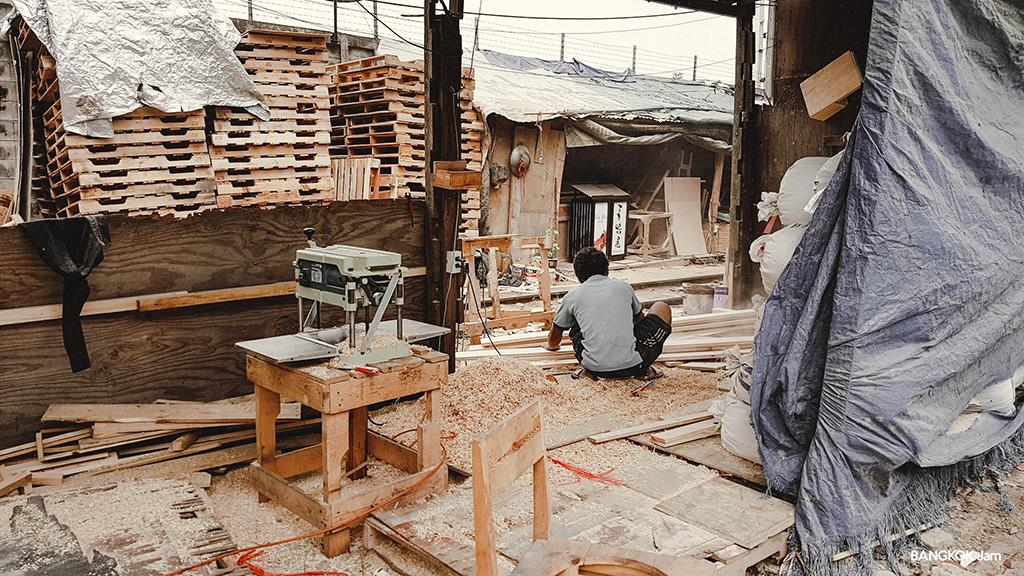 中古パレット 木材 リメイク DIY バンコク