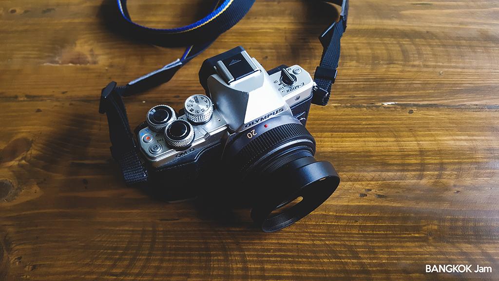 オリンパス Olympus OM-D E-M10 PLフィルター レンズフード 20mm f1.7
