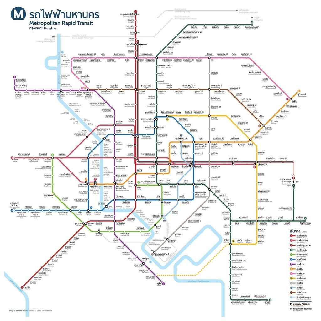 バンコク BTS MRT 延伸 計画 マップ