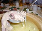 とり鍋の中の鶏!