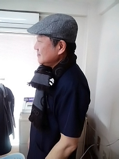 ハンチング帽デビュー♪