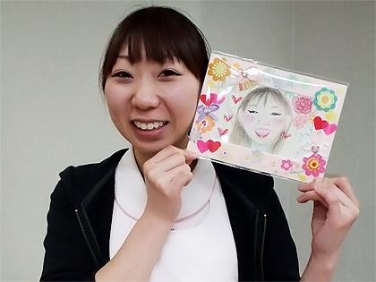 福田さんと似顔絵