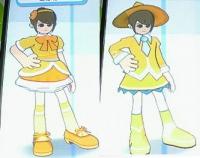 茶髪×黄色ポニテ