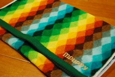 虹色タオル
