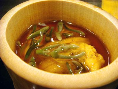 うにの茶わん蒸し?〜弘前市「和料理なかさん」〜