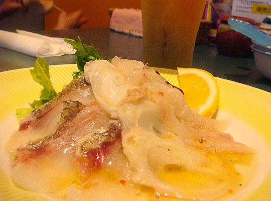 お魚3種のカルパッチョ