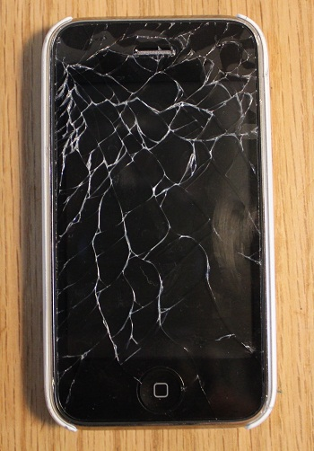 iPhoneガラスが割れた