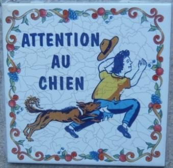 フランスの可愛い看板「猛犬注意」(写真)